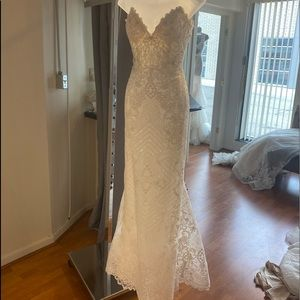 Allure Couture strapless gown